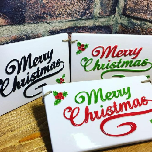 Ceramic Christmas Wall Plaques | 5-7 years