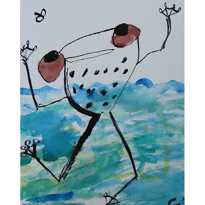 Paint Fantastic Frogs, Lizards and Landscapes Inspired by John Olsen   5-7 years