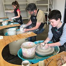 Pottery Wheel Family Class for kids + parents | Weekends and School Holidays
