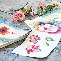 Watercolour | Painting Flowers Loose and Vibrant
