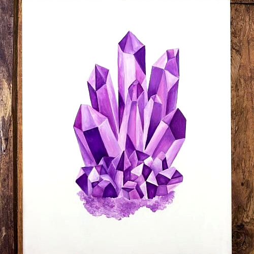 Online | Ink | Crystal Formation | 7-9 years