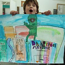 Painting | When Monsters Attack Fun Perspective | 5-7 years