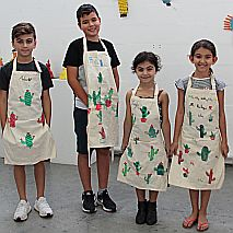 Fabric Art | Casa Mexico - Block Printing on Aprons | Years 3-5