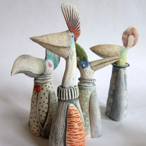 Ceramics | Bird Sculptures for your Garden