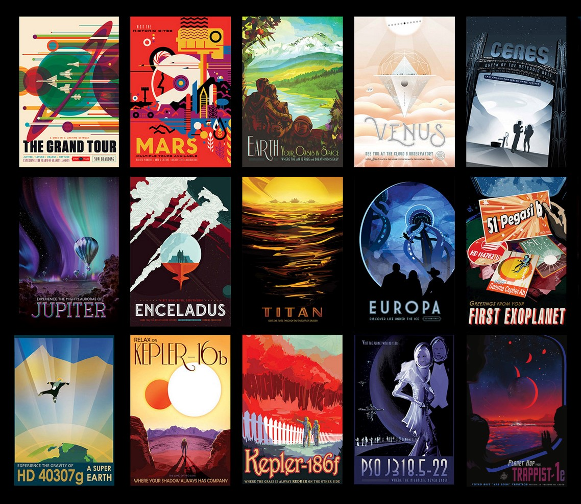 Online | Space Travel Posters | 8-12 years