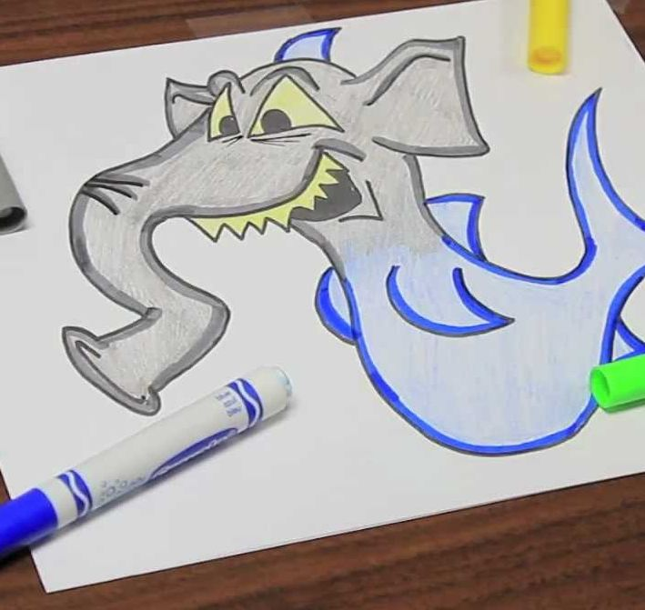 Drawing Creative Creatures!   7-9 years