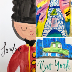 Painting   Travel Postcards   7-9 years