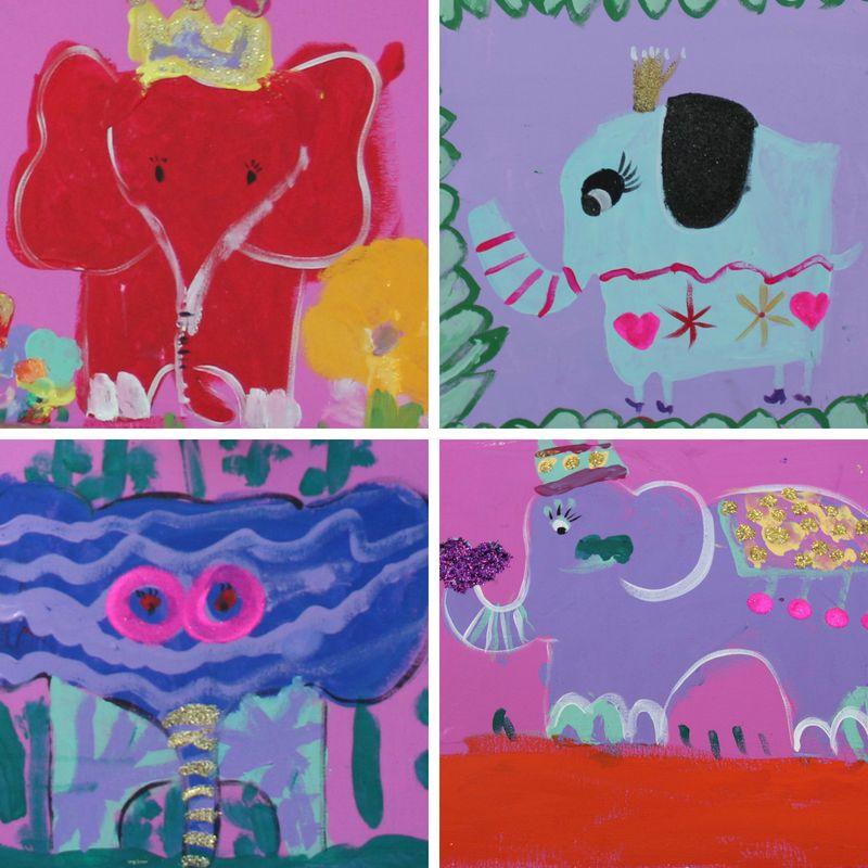 Paint Elegant Elephants | 5-7 years
