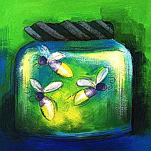 Paint Fireflies in the  Moonlight | 5-7 years