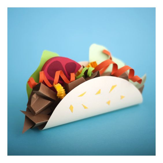 Paper Sculpture Tacos VIVA MEXICO! | 7-9 years
