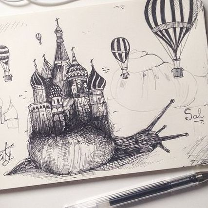 Creative Drawing | City Snails |  8-12 years