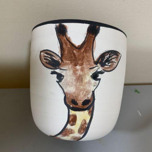 Ceramic Pencil Holder | Giraffes | 7-9 years