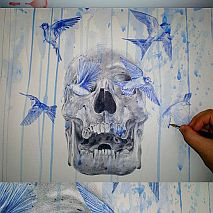 Drawing | Cool Skull Illustrations | 8-12 years