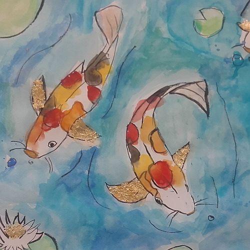 Paint Koi Fish in Watercolour | 7-9 years