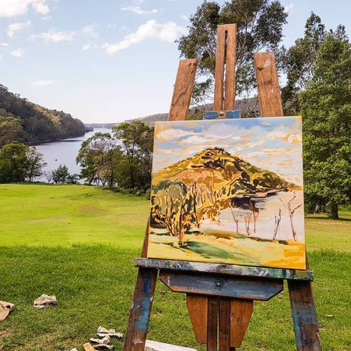 Edge GreenWay | The Great (art) Outdoors | Painting en plein air in Oils with Nicole Kelly