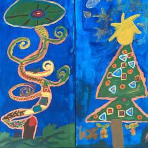 Painting | Decorative Trees inspired Gustav Klimt | 8-12 years
