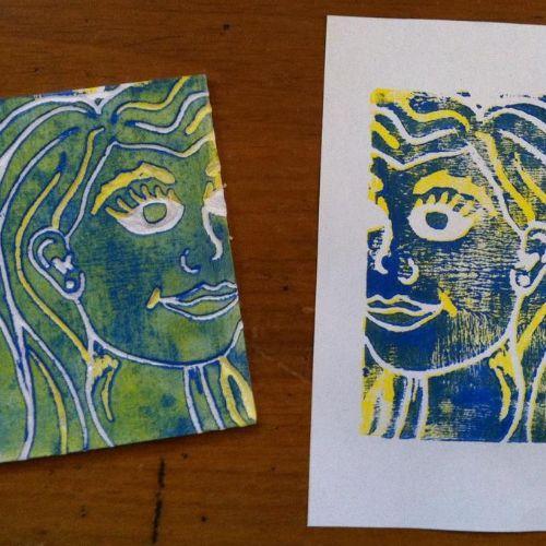 Printmaking | Printed Portraits | 7-9 years