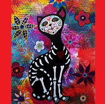 Painting | Creepy Cats | Day of the Dead | 8-12 years old