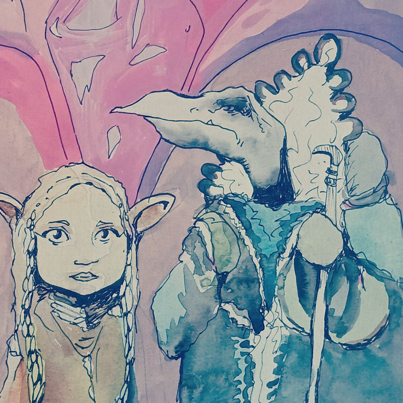 Illustration | Dark Crystal Labyrinth Goblins Faeries | 10-13 years