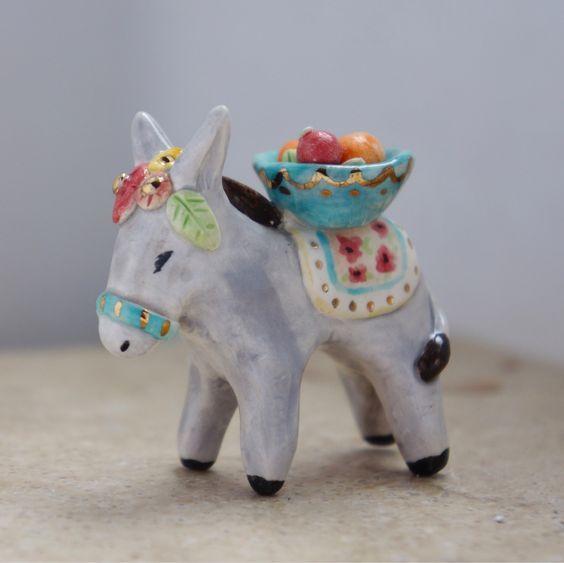 Ceramic Llamas or Donkeys   5-7 years