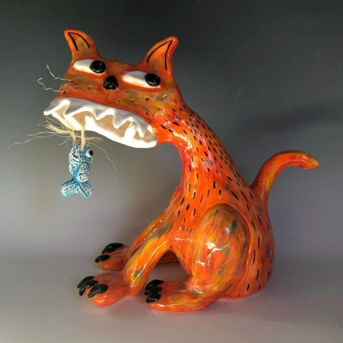 Ceramics | Cat or Dog Sculptures for your Garden with Kara Pryor