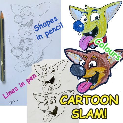 Online | Cartoon Slam for Kids | 10 years and over