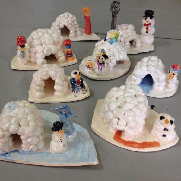 Ceramic Igloos and Snow People | 5-7 years