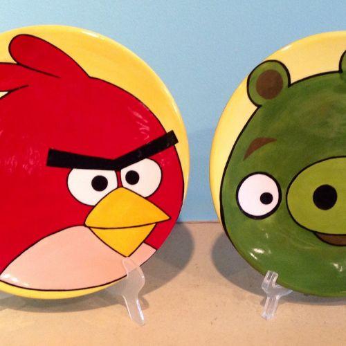 Ceramic Plates | Angry Birds | 7-9 years
