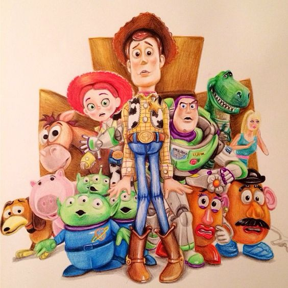 Cartoon Toy Story, Woody, Buzz and more 8-12 years
