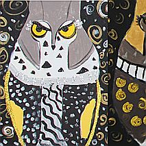 Painting | Magnificent Birds of Prey Inspired by Klimt | 9-12 years