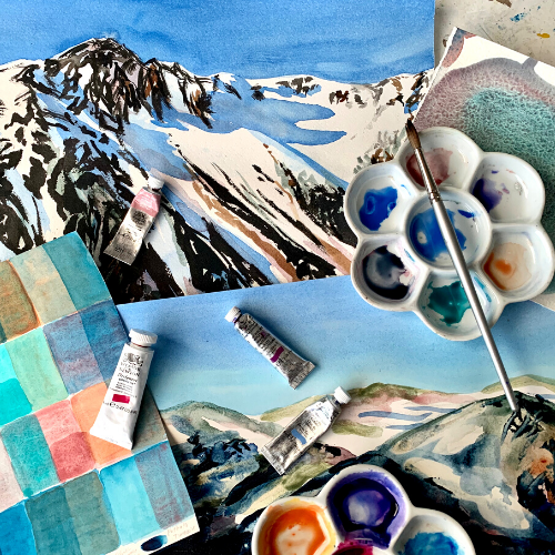 Watercolour Fundamentals and Experimentation for Teens with Carla Hananiah