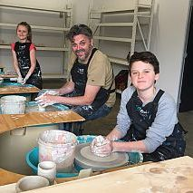 Pottery Wheel School Holiday Family Art Class