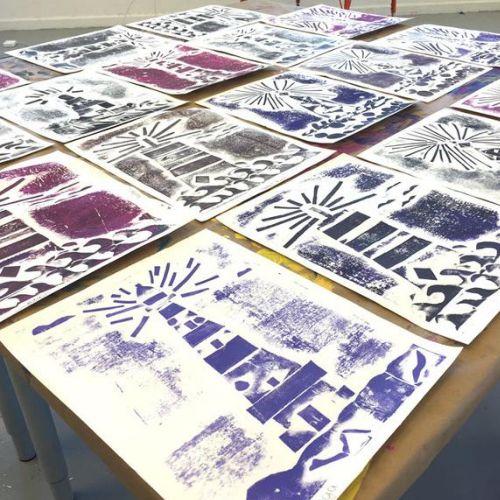 Printmaking | Lighthouse Collograph | 8-12 years