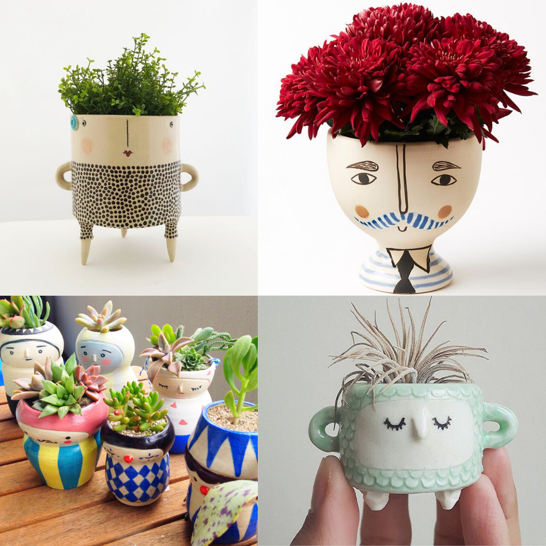 Ceramic Planters with Personality | Family Art Class