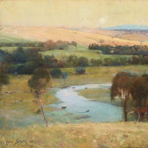 Oil Painting | Landscape Painting after Arthur Streeton | Michelle Hiscock