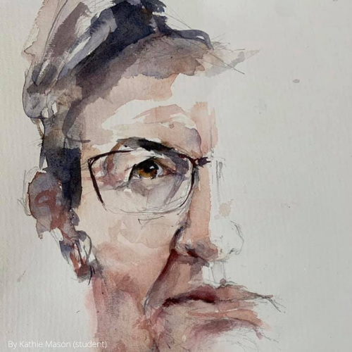 Online | Portrait Painting Made Easy | Watercolours with Susie Murphie