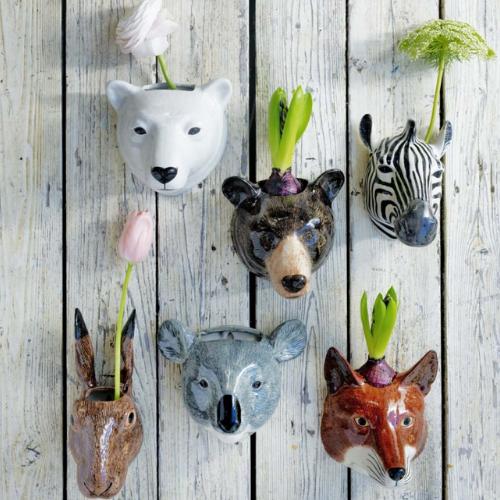 Ceramic Safari Animals Pots   8-12 years old