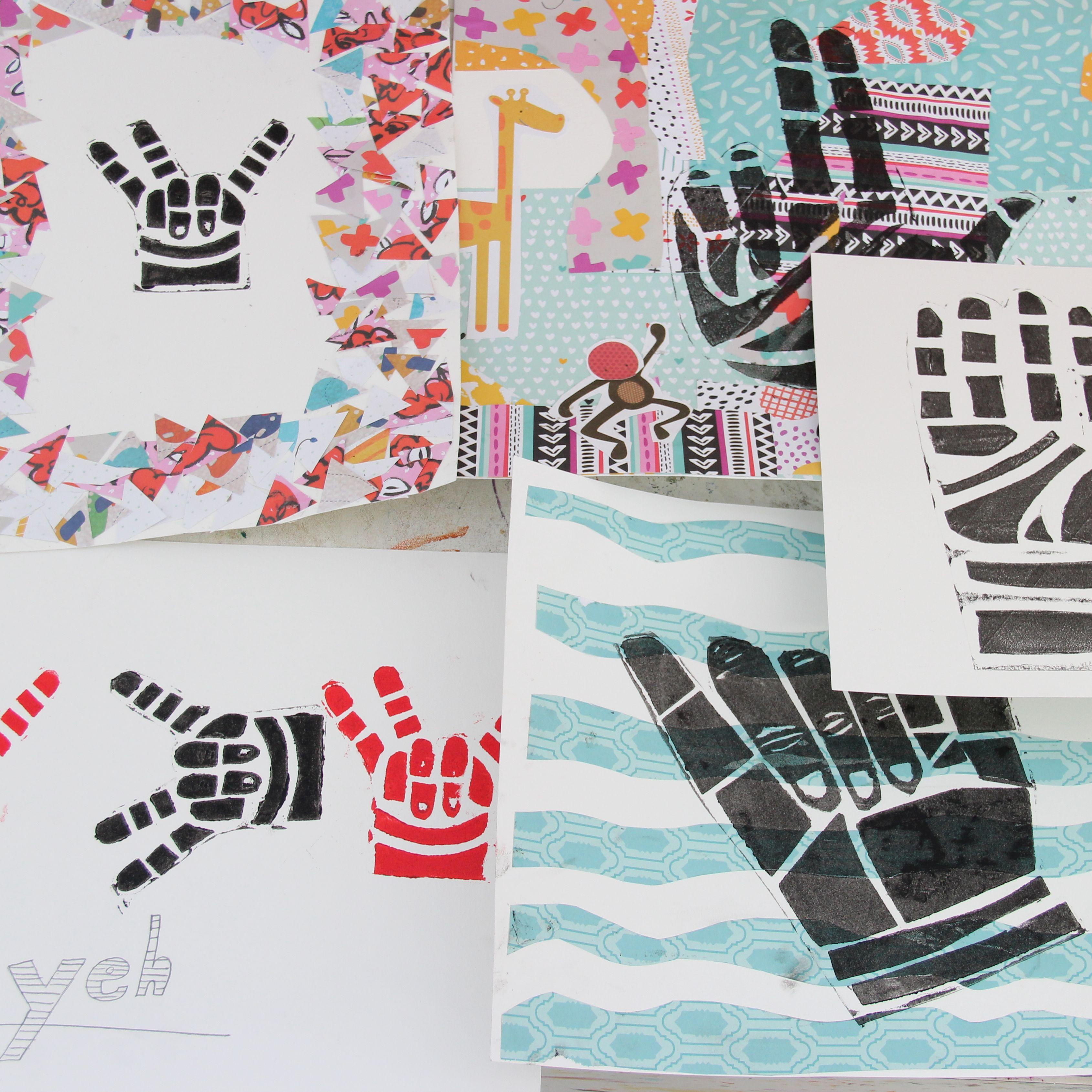 Printmaking | Hands Up Hands Down | 9-12 years