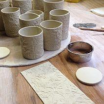 Ceramics | Textured Mugs | 11 +