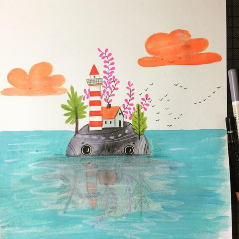 Painting | Magical Islands | 5-7 years