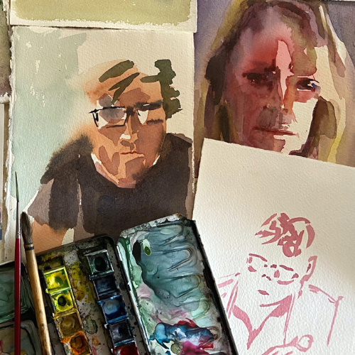 Online | Sketching People in Watercolour with Tanya Baily