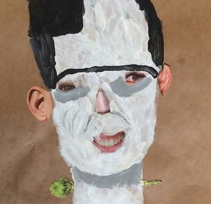 Mixed Media + Painting | Frankenstein Portraits | 10+