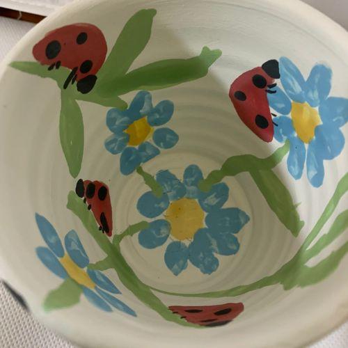 Ceramic Pencil Holder | Butterflies, Lady Bugs & Flowers | 5-7 years