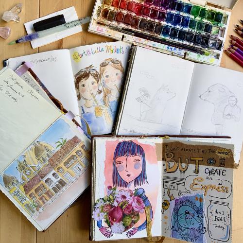 Online | Creating an Art Practice through Visual Journaling | Serena Geddes