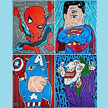 Drawing Cubist Super Heroes | 7-9 years