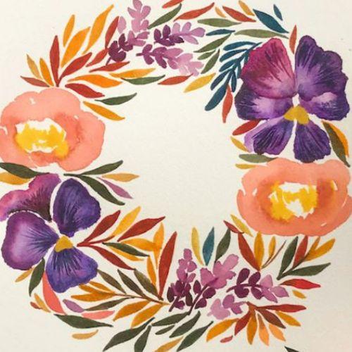 Online | Watercolour Wreaths | 8-12 years