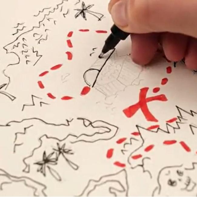 Paint Pirates and Treasure Maps |  5-7 years
