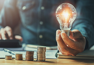 Light Bulb and Coins