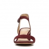 CAITLYN SANDALS IN BORDO VELVET