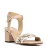 CAITLYN SANDALS IN TAUPE/BLACK/WHITE